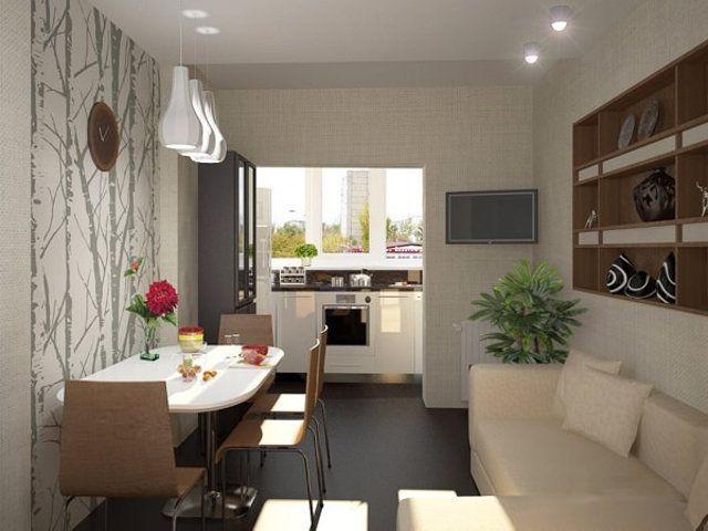 Совмещение кухни с балконом дизайн